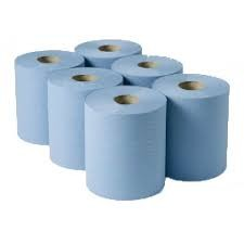 Blue centrefeed paper towel