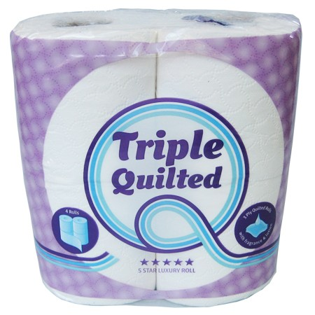 Luxury quilted toilet roll