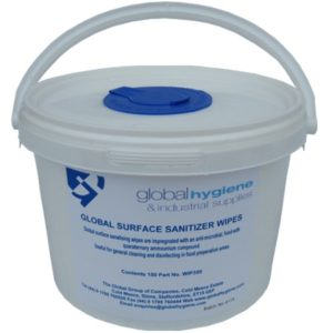 Surface sanitiser wipes